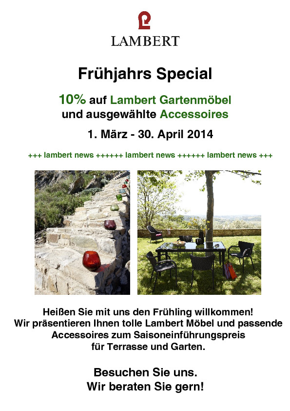 Frühjahrs Special – wohnbar Bad Salzungen – Möbel, Accessoires, u.v.m.
